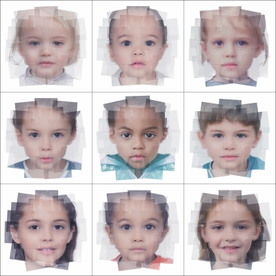 042 Generated Faces by Artificial Intelligence Kids 000 400x400 - Visuals. 2019