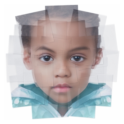042 Generated Faces by Artificial Intelligence Kids 005 400x400 - Visuals. 2019