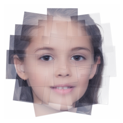 042 Generated Faces by Artificial Intelligence Kids 007 400x400 - Visuals. 2019