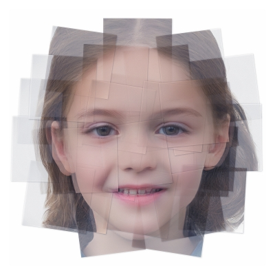 042 Generated Faces by Artificial Intelligence Kids 009 400x400 - Visuals. 2019