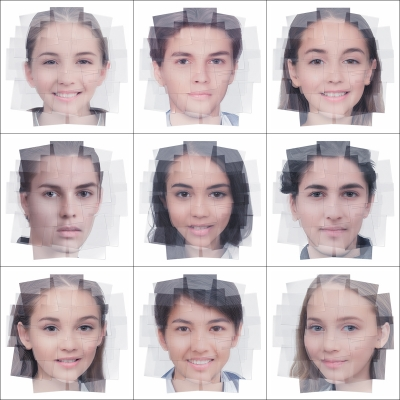 045 Generated Faces by Artificial Intelligence Teens 000 400x400 - Visuals. 2019