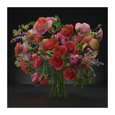 125 Virtual Flowers Bouquet N2 400x400 - Visuals. 2020