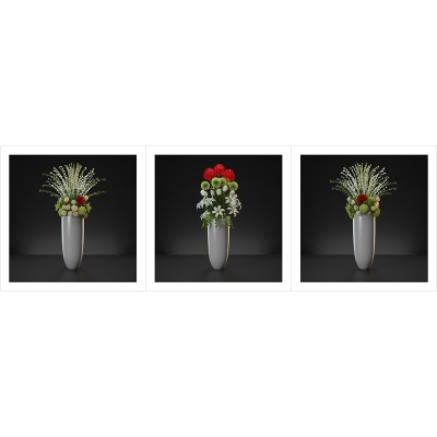140 Virtual Flowers Bouquet Triptych N1 000 1200 1200 400x400 - Visuals. 2020