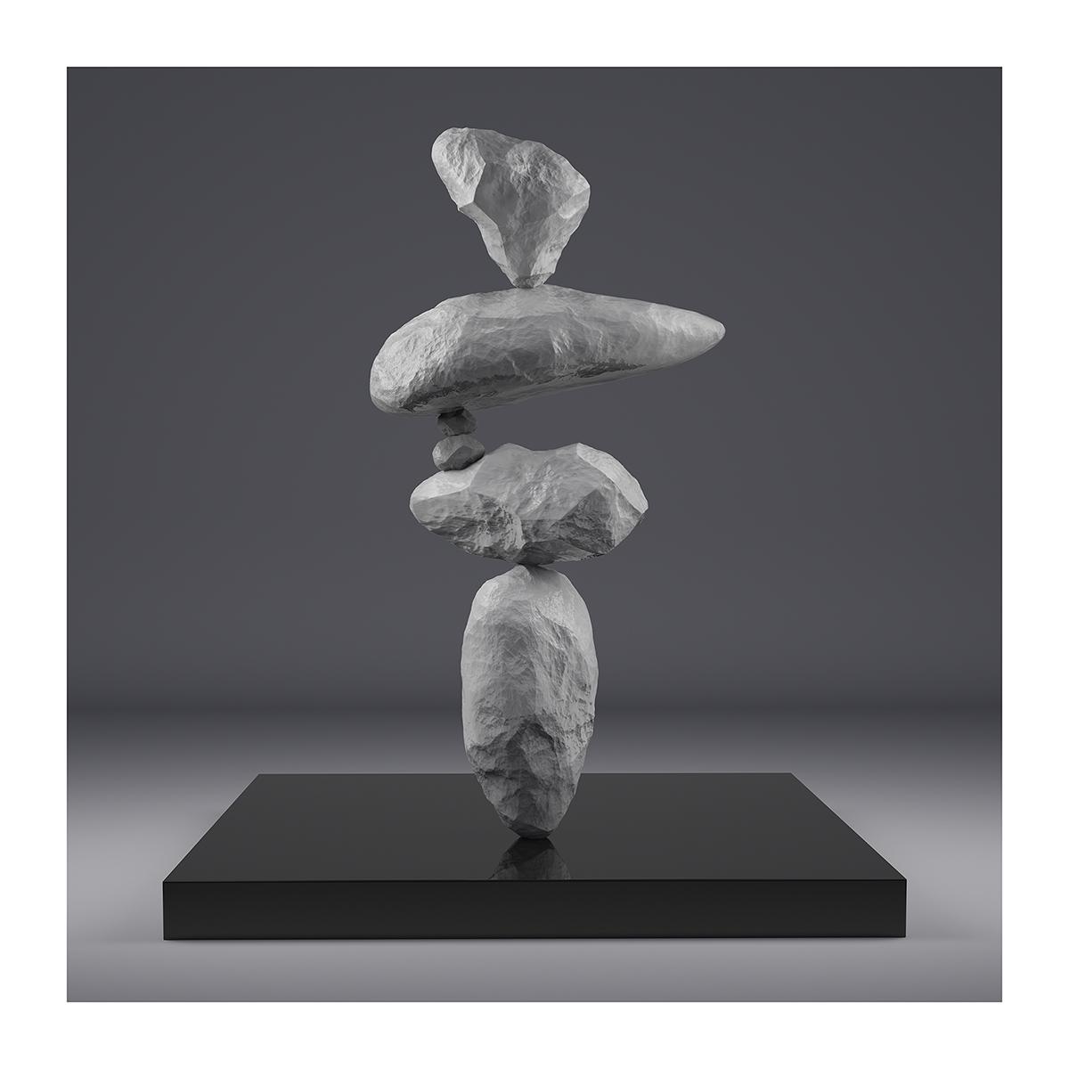 I will not Make any more Boring Art III 001 1 - 2020 - I will not Make any more Boring Art. III. (Rock Balancing)