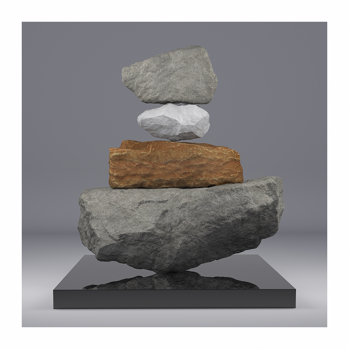 I will not Make any more Boring Art V 001 1 - 2020 - I will not Make any more Boring Art. V. (Rock Balancing)