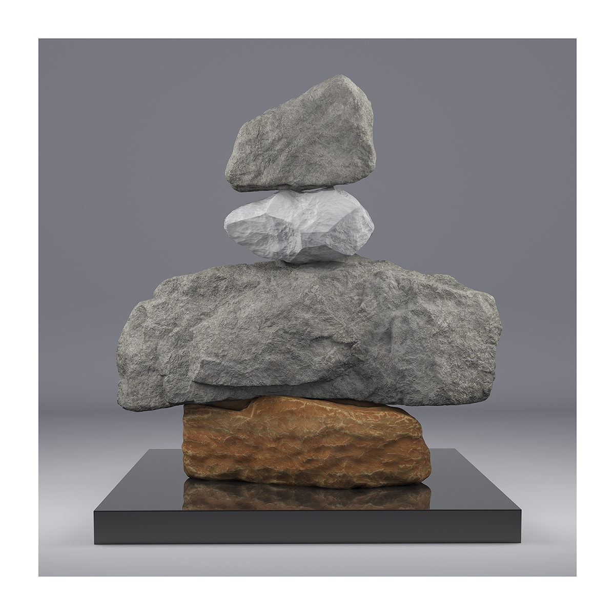 I will not Make any more Boring Art V 002 1 - 2020 - I will not Make any more Boring Art. V. (Rock Balancing)