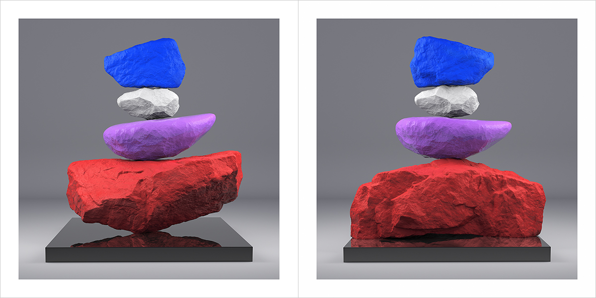 I will not Make any more Boring Art VI 000 1200 600 - 2020 - I will not Make any more Boring Art. VI. (Rock Balancing)