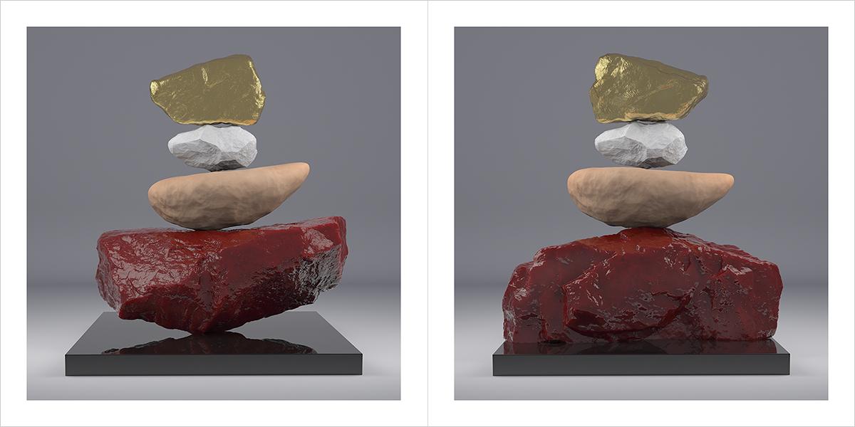 I will not Make any more Boring Art VII 000 1200 600 - 2020 - I will not Make any more Boring Art. VII. (Rock Balancing)