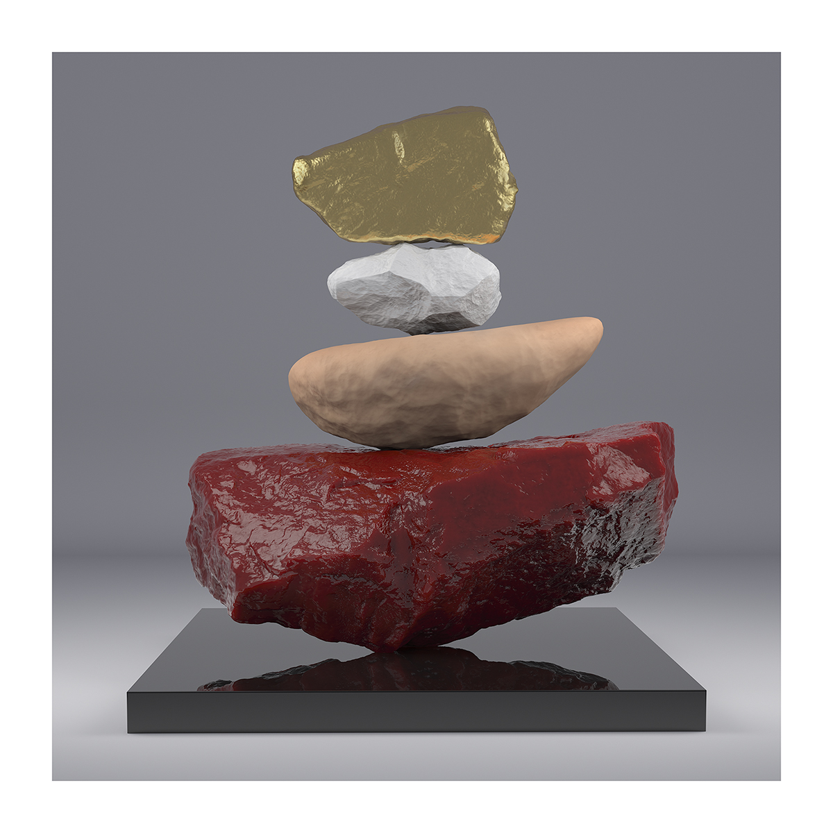 I will not Make any more Boring Art VII 001 1 - 2020 - I will not Make any more Boring Art. VII. (Rock Balancing)