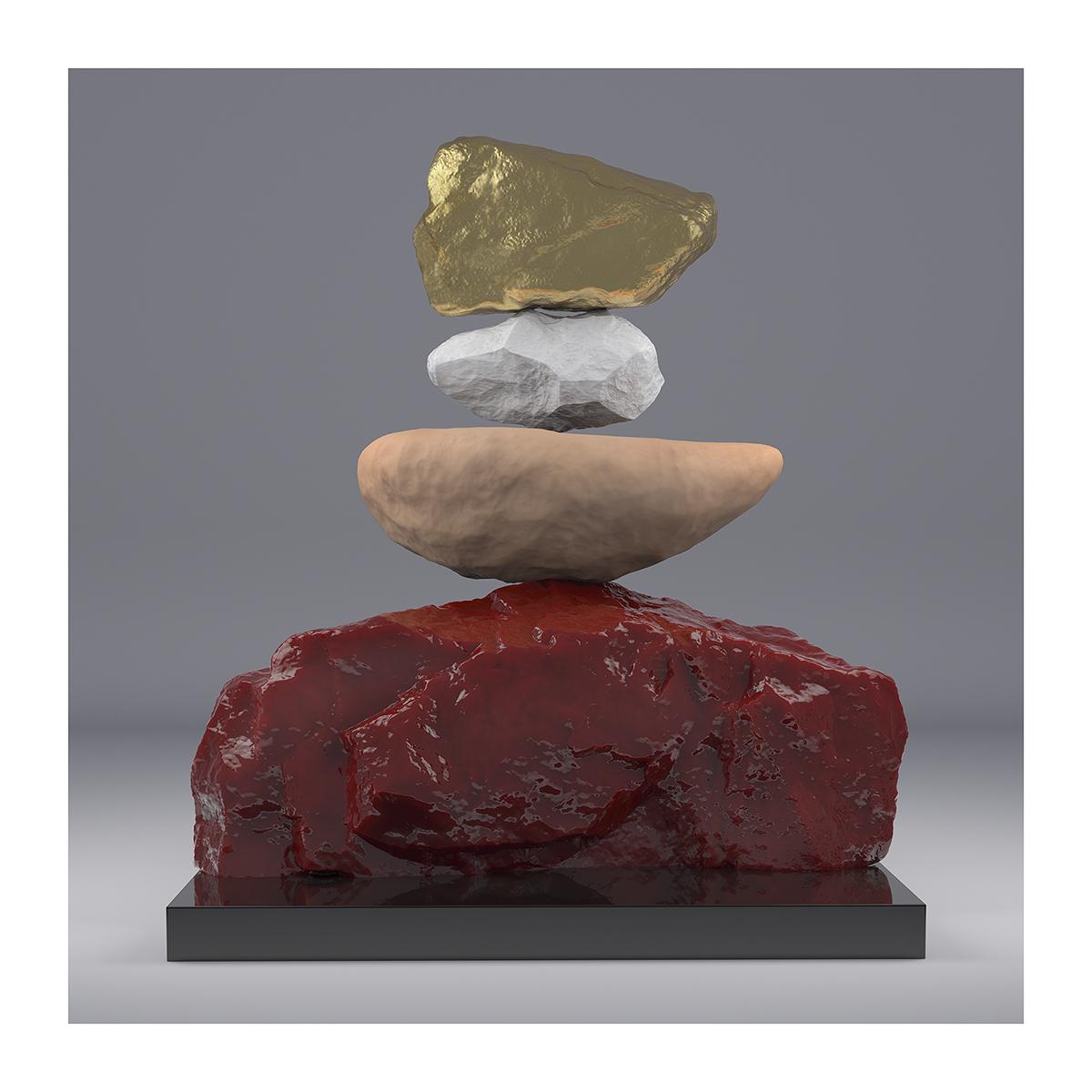 I will not Make any more Boring Art VII 002 1 - 2020 - I will not Make any more Boring Art. VII. (Rock Balancing)