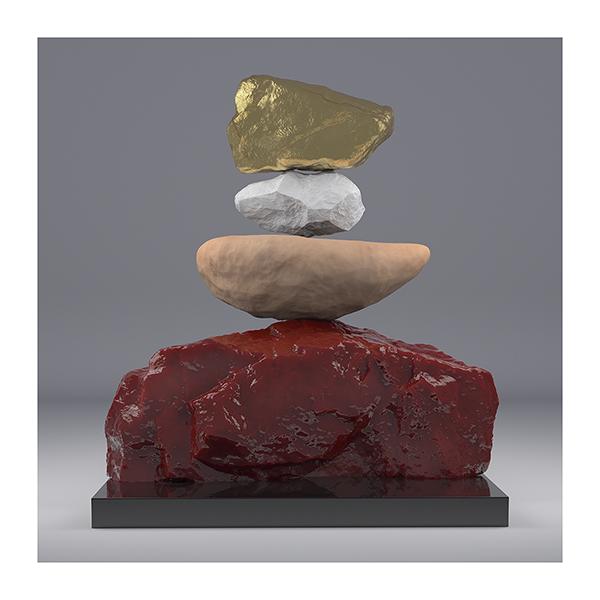 I will not Make any more Boring Art VII 002 - 2020 - I will not Make any more Boring Art. VII. (Rock Balancing)
