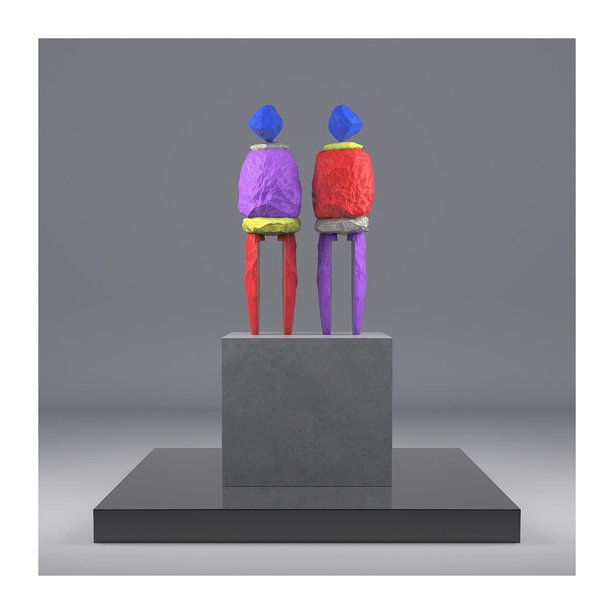 I will not Make any more Boring Art XII 001 1 - 2020 - I will not Make any more Boring Art. XII. (Human-Shaped Stones)