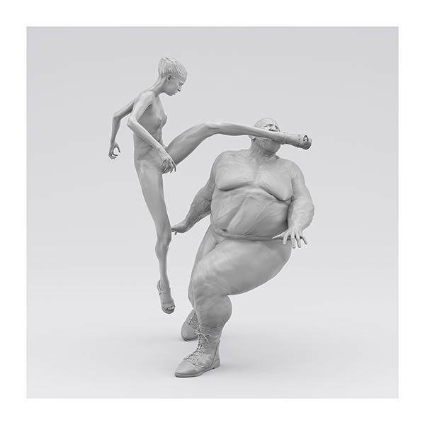 I will not Make any more Boring Art XIV 005 - 2020 - I will not Make any more Boring Art. XIV. (Men, Women. The Struggle. I)