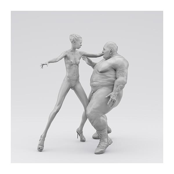 I will not Make any more Boring Art XIV 007 - 2020 - I will not Make any more Boring Art. XIV. (Men, Women. The Struggle. I)