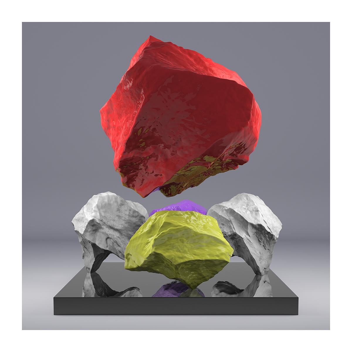 I will not Make any more Boring Art XVIII 1 - 2020 - I will not Make any more Boring Art. XVIII. (Rock Balancing)