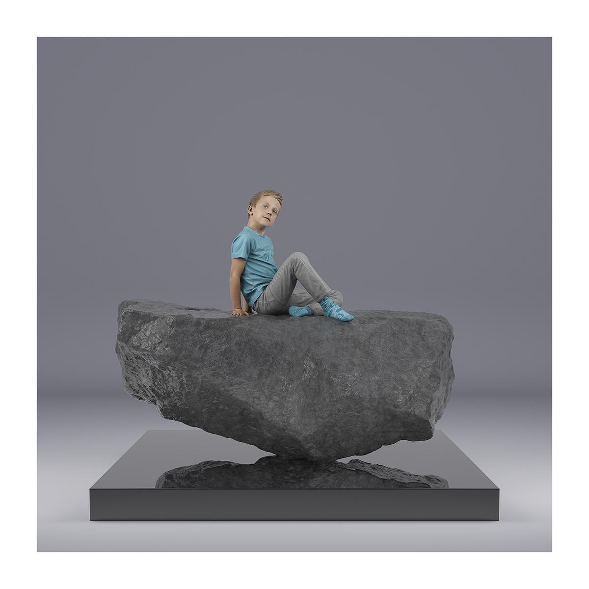 TWHS Sitting Boy 001 1 - 2021 - This was HomoSapiens. (Sitting Boy)