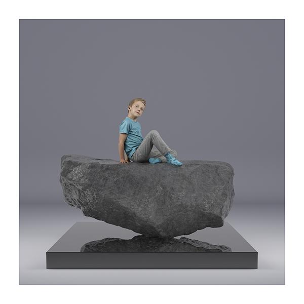 TWHS Sitting Boy 001 - 2021 - This was HomoSapiens. (Sitting Boy)