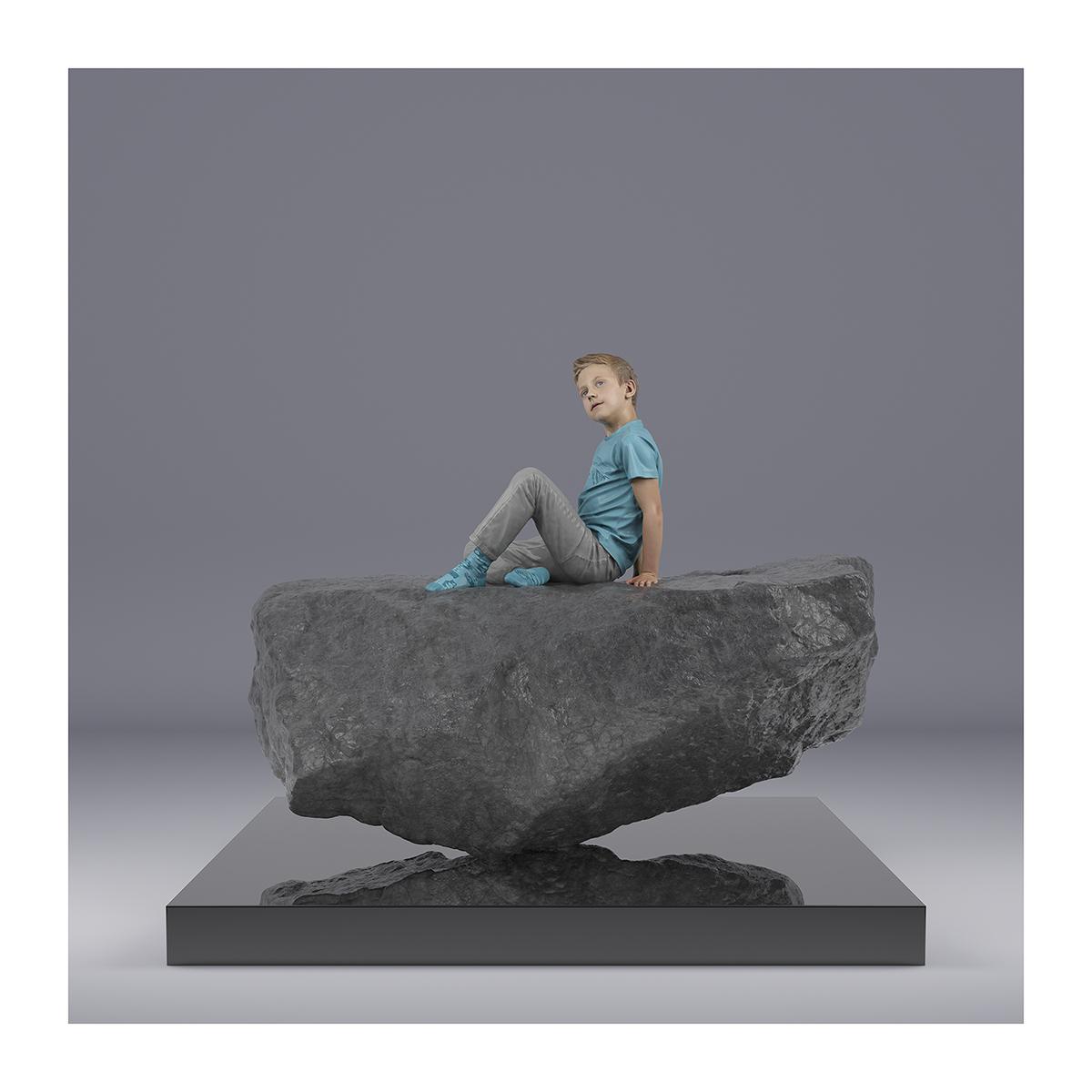 TWHS Sitting Boy 003 1 - 2021 - This was HomoSapiens. (Sitting Boy)