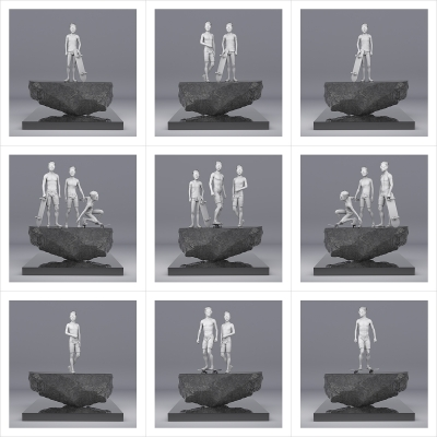 065 This was HomoSapiens Cool Teens 000 400x400 - Visuals. 2021