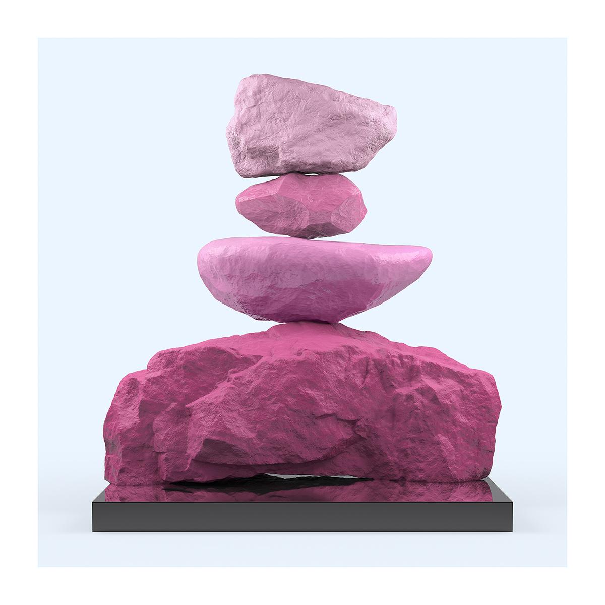 145 I will not Make any more Boring Art XXIV 002 - 2021 - I will not Make any more Boring Art. XXIV. (Rock Balancing - The Rose Period)