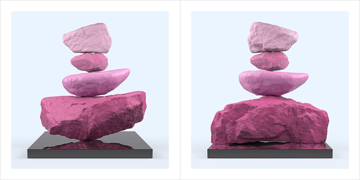 I will not Make any more Boring Art XXIV 000 1200600 - 2021 - I will not Make any more Boring Art. XXIV. (Rock Balancing - The Rose Period)