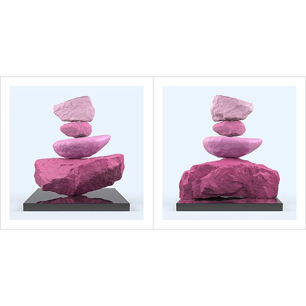 I will not Make any more Boring Art XXIV 000 - 2021 - I will not Make any more Boring Art. XXIV. (Rock Balancing - The Rose Period)