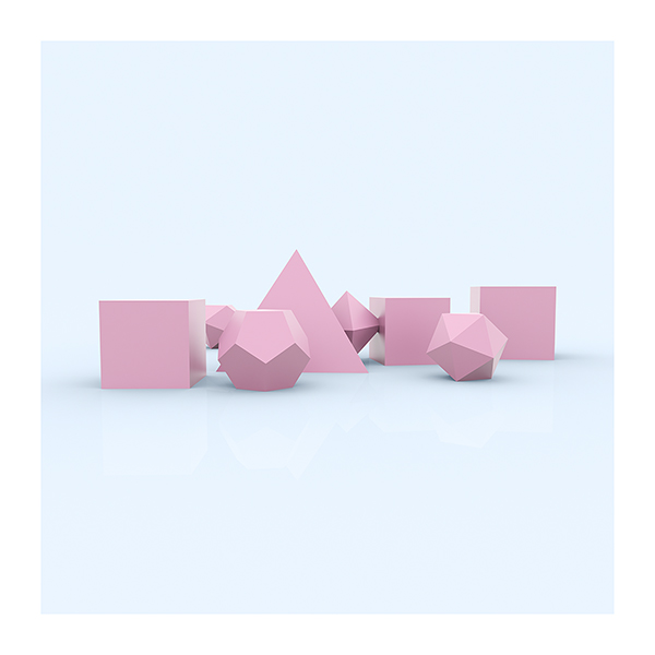 I will not Make any more Boring Art XXV 004 - 2021 - I will not Make any more Boring Art. XXV. (Plato Architect - The Platonic Solids - The Rose Period)