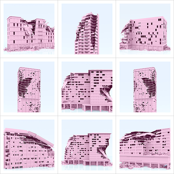 I will not Make any more Boring Art XXVIII 000 - 2021 - I will not Make any more Boring Art. XXVIII. (War-Affected Buildings - The Rose Period)
