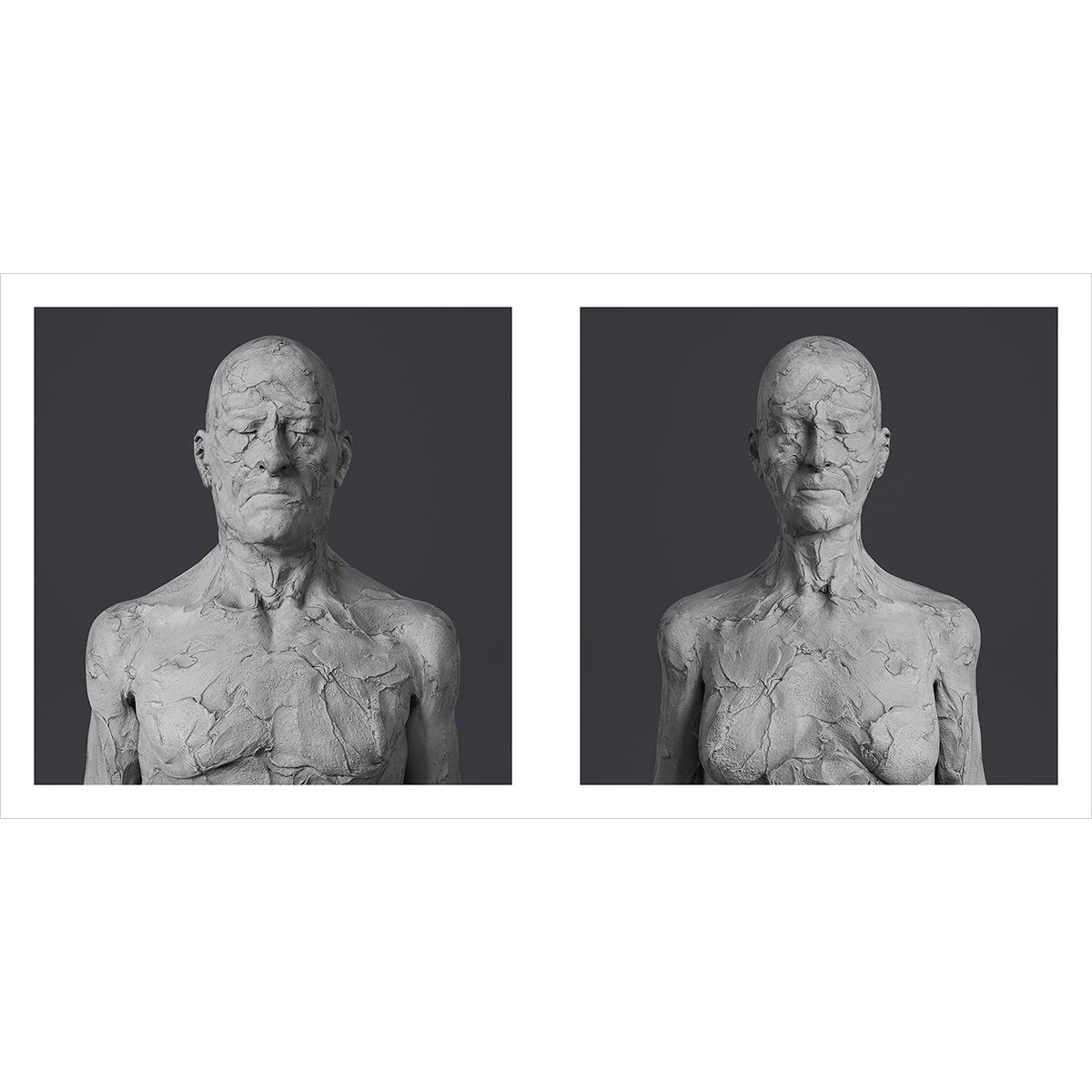 190 Virtual Portraits The couple RCC Busts 000 12001200 1 - 2021 - Virtual Portraits. (The couple - Realistic Chunky Clay Busts)