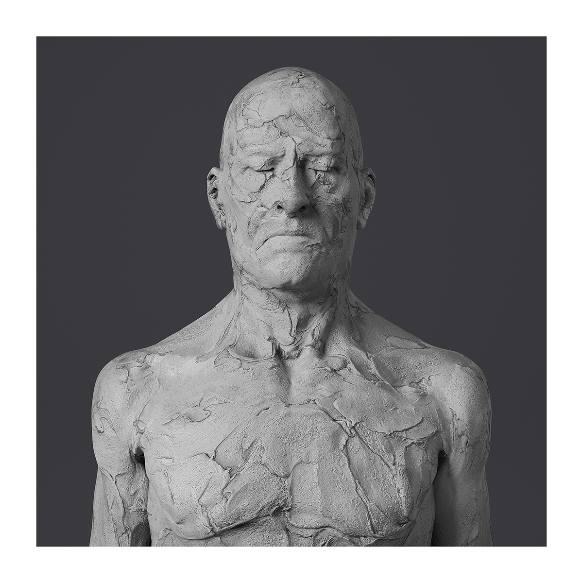190 Virtual Portraits The couple RCC Busts 001 1 - 2021 - Virtual Portraits. (The couple - Realistic Chunky Clay Busts)