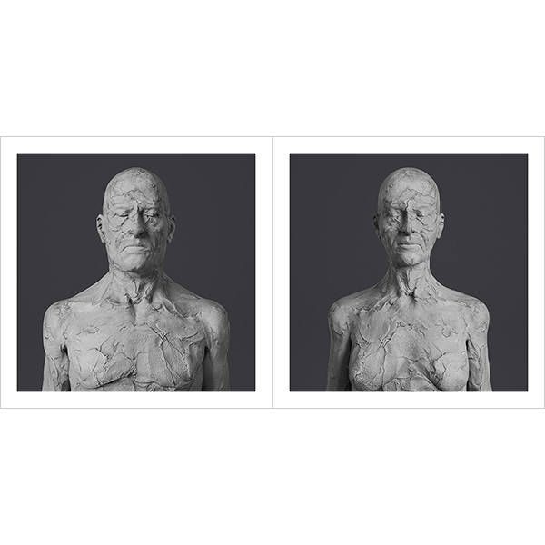 Virtual Portraits The couple RCC Busts 000 1 - 2021 - Virtual Portraits. (The couple - Realistic Chunky Clay Busts)