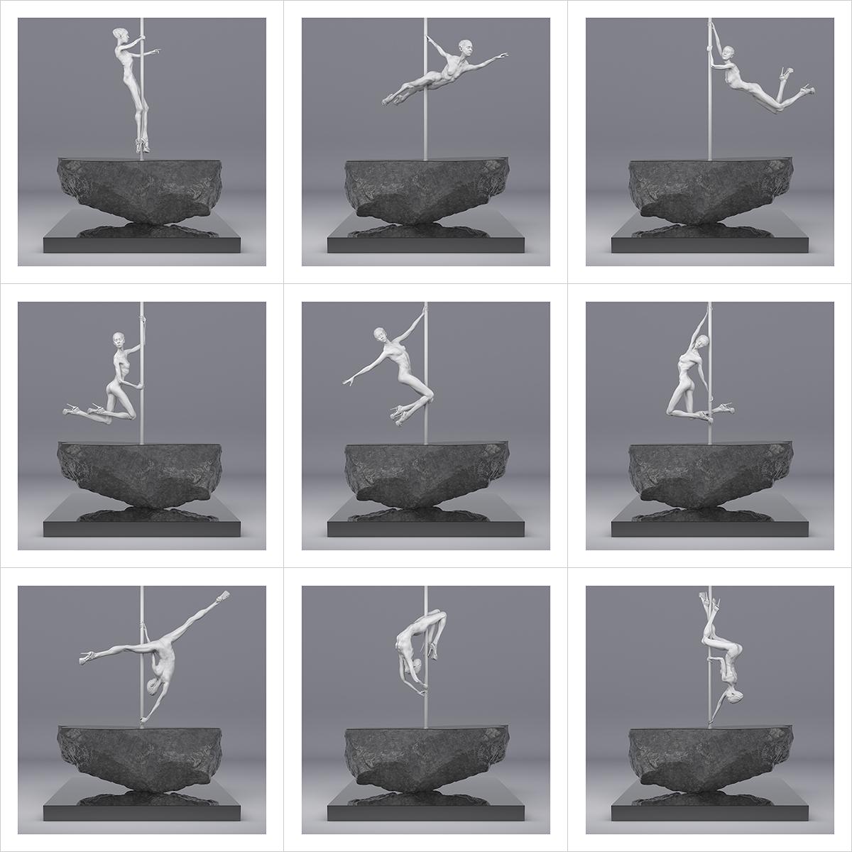 225 TWHS Pole Dance Dancer I 000 - 2021 - This was HomoSapiens. Pole Dance Dancer. I