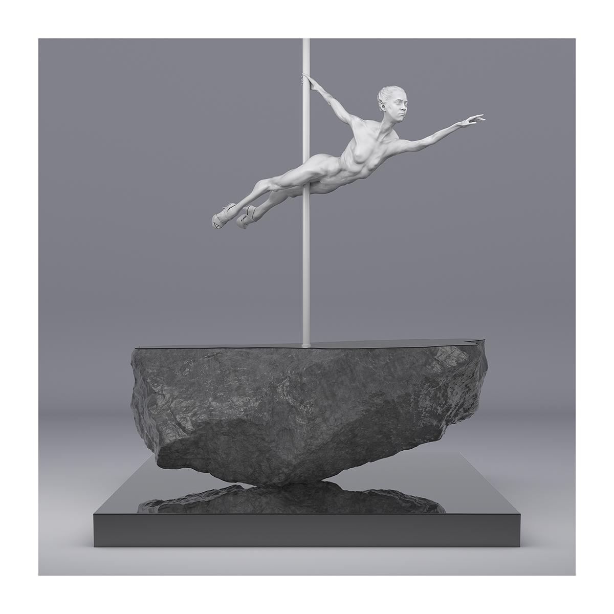 225 TWHS Pole Dance Dancer I 002 - 2021 - This was HomoSapiens. Pole Dance Dancer. I