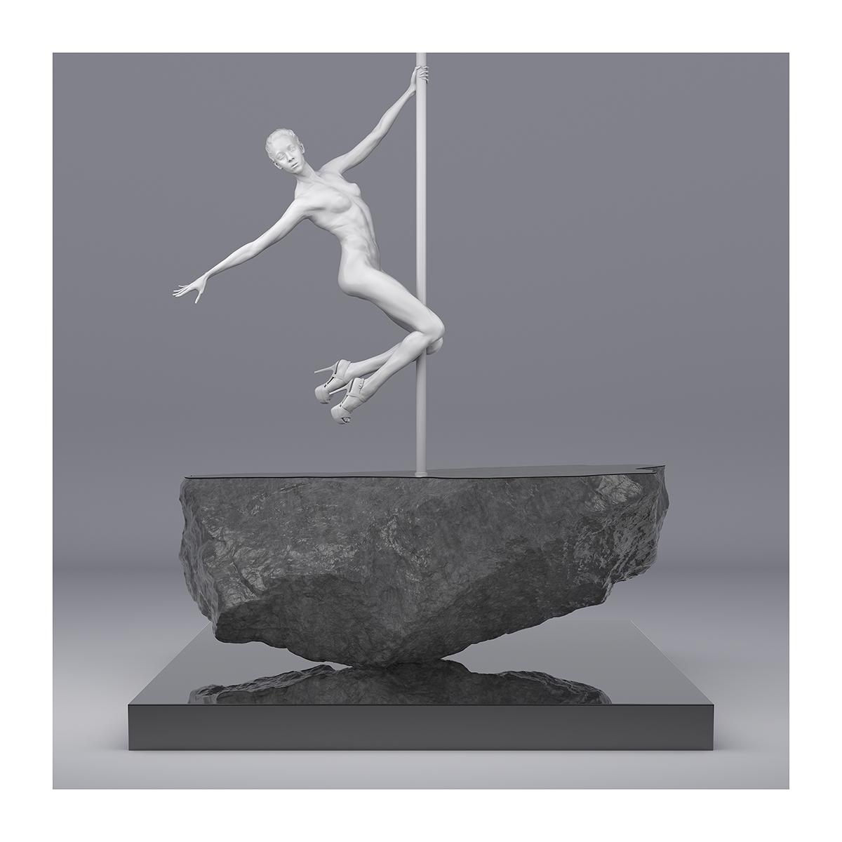 225 TWHS Pole Dance Dancer I 005 - 2021 - This was HomoSapiens. Pole Dance Dancer. I