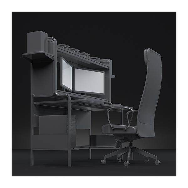 An artists studio I 003 - 2021 - An artist's studio in the 21st Century. I