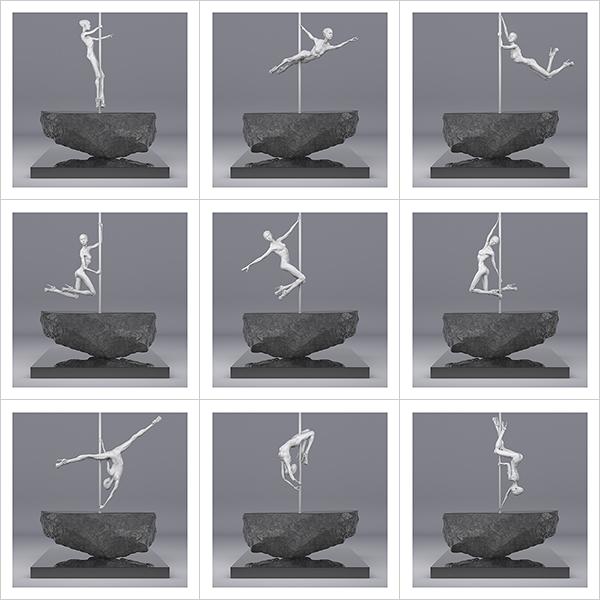 TWHS Pole Dance Dancer I 000 - 2021 - This was HomoSapiens. Pole Dance Dancer. I