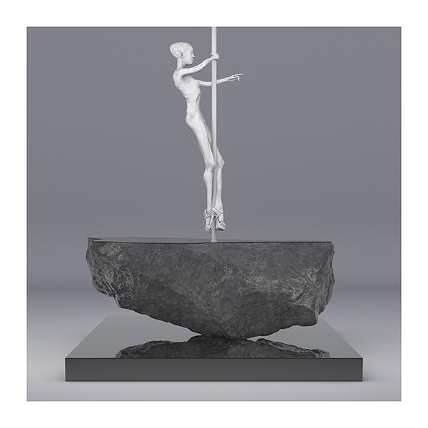 TWHS Pole Dance Dancer I 001 - 2021 - This was HomoSapiens. Pole Dance Dancer. I