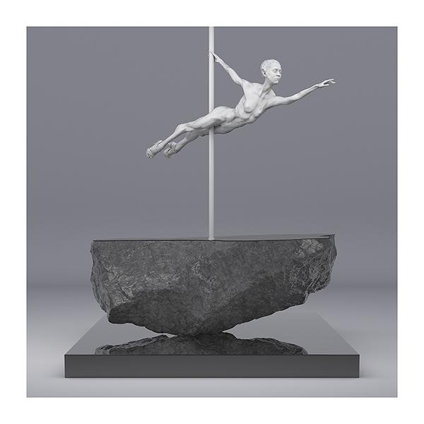 TWHS Pole Dance Dancer I 002 - 2021 - This was HomoSapiens. Pole Dance Dancer. I