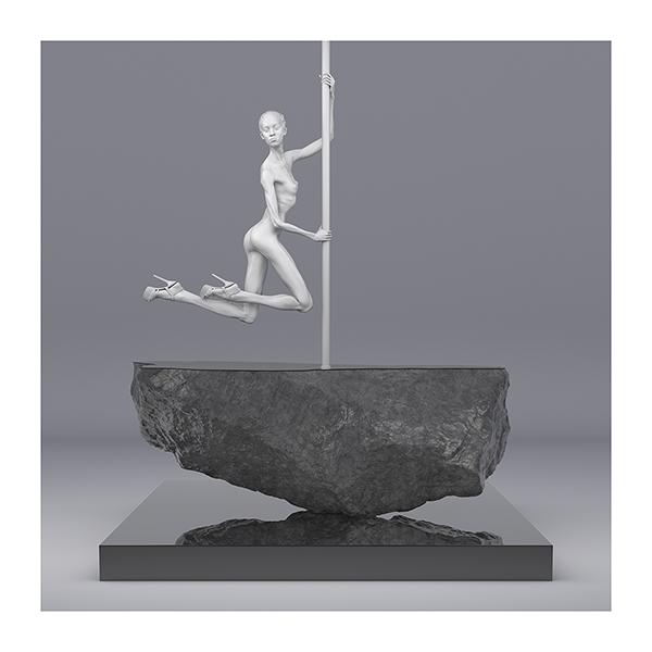 TWHS Pole Dance Dancer I 004 - 2021 - This was HomoSapiens. Pole Dance Dancer. I