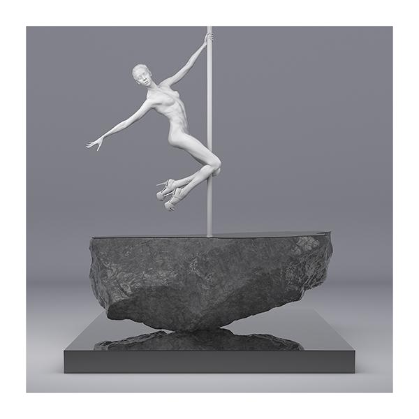 TWHS Pole Dance Dancer I 005 - 2021 - This was HomoSapiens. Pole Dance Dancer. I