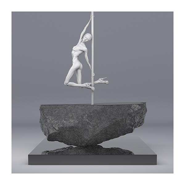 TWHS Pole Dance Dancer I 006 - 2021 - This was HomoSapiens. Pole Dance Dancer. I