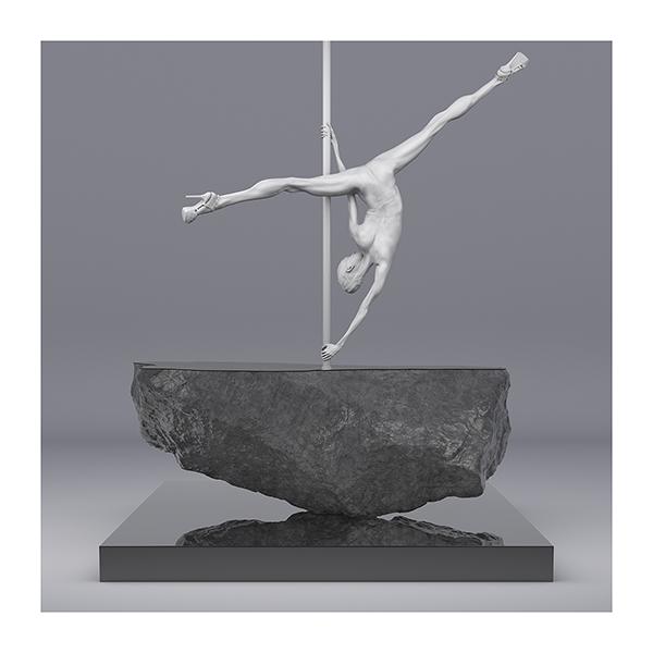TWHS Pole Dance Dancer I 007 - 2021 - This was HomoSapiens. Pole Dance Dancer. I