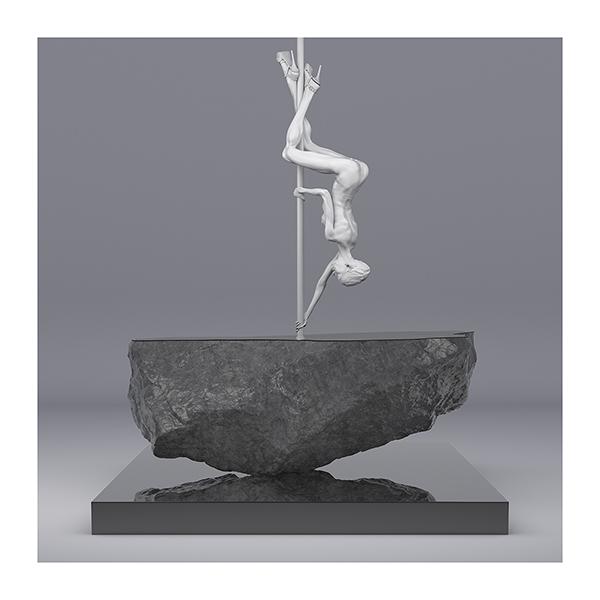 TWHS Pole Dance Dancer I 009 - 2021 - This was HomoSapiens. Pole Dance Dancer. I